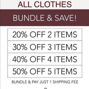 All clothes.  The more you buy the more you save